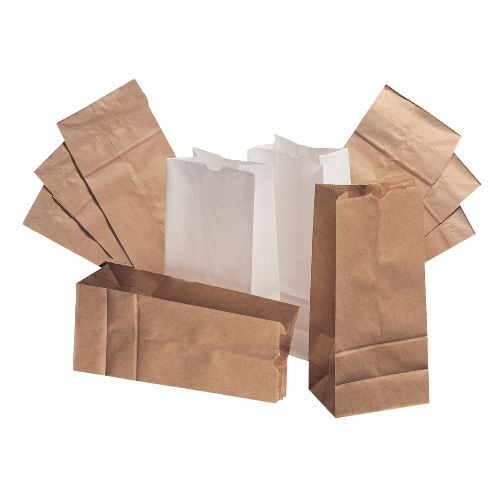 PAPER BAGS - Standard-Duty Paper Bags (White)