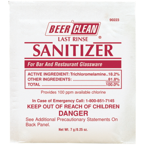 Beer Clean? Last Rinse Sanitizer