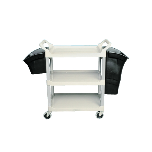 3-Shelf Utility Cart, Open All Sides