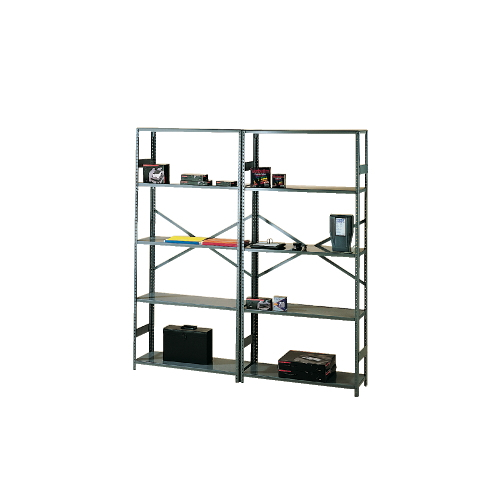 "75"" High Commercial Metal Shelving"