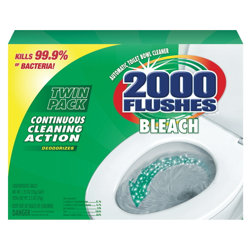 2000 Flushes® Bleach Antibacterial Automatic Bowl Cleaner